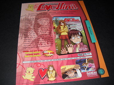 LOVE HINA is MOVING IN Vintage ANIME Promo Ad mint condition