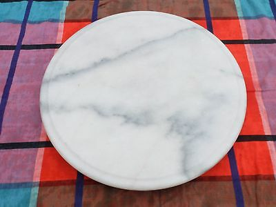 Vintage Marble Turntable Type Pastry/cheese Board Platter