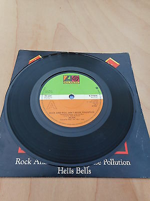 AC/DC Rock And Roll Aint Noise Pollution.1980 Vinyl 45 single.K11630 P/S