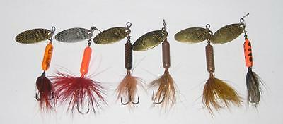 6 WORDEN'S ROOSTER TAIL 1/6 oz SPINNER LURES