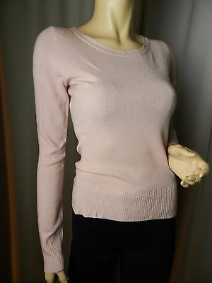 231♥H & M♥ Pull Fin   Col Rond Rose Perle   Manches Longues Taille 36