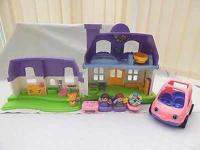 Fisher Price Little People Day And Night House With Sounds, 4 Figures And Car
