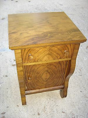 Antique Rosewood Empire Night Stand with one door - one drawer 9518