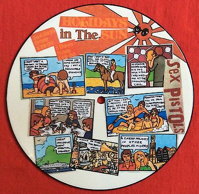 "SEX PISTOLS - Holidays In The Sun - Rare UK 7"" Picture Disc (Vinyl Record)"
