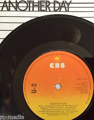 "U2 -Another Day- Ultra Rare Irish UKTM rim text 'Sunburst' CBS label 7"" +Pic Slv"