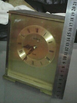 Nice Rare Vintage James Walker Ltd.  Brass Quartz Mantle Clock ,Spares Or Repair