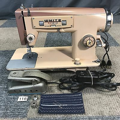 Serviced Works Perfectly Vintage White 2334 Heavy Duty Zig-Zag Sewing Machine