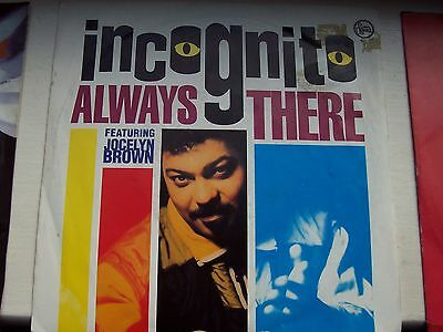 INCOGNITO ft JOCELYN BROWN, ALWAYS THERE / JOURNEY INTO SUNLIGHT. 1991 SINGLE