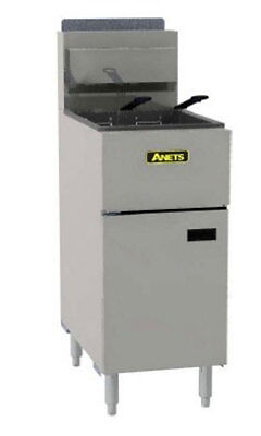 Anets SLG40 Silverline 40lb Gas Fryer Stainless Commercial 90000 BTU