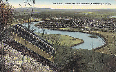 Vista from incline Lookout Mountain CHATTANOOGA Tennessee USA C.T. Photochrom PC