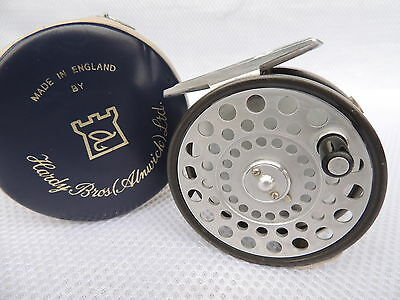 Fine Hardy LRH Lightweight Fly Fishing Reel With 2 Screw Lineguard + Case.