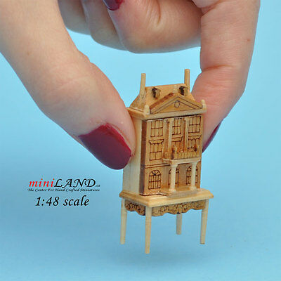"""1:48 1/4"""" quarter scale Dollhouse for dollhouse Pine with table miniature wood"""