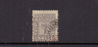 NORWAY 1863 3sk LILAC SG13 ( TEAR ) USED CAT £500