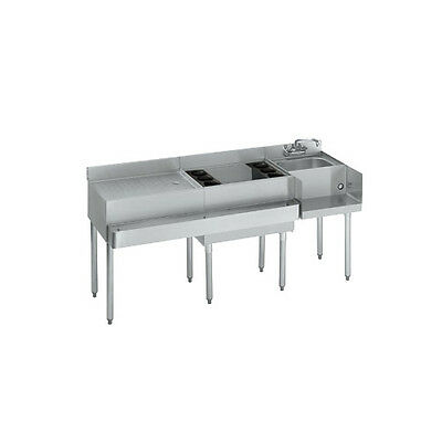 "Krowne Metal Standard 1800 Series 66""w Underbar Ice Bin/cocktail Station - 18-W6"
