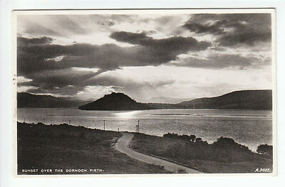 Sunset Over The Dornoch Firth Sutherland Real Photograph 13 Jul 1959 JB White