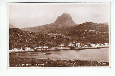 Suilven And Lochinver Village Sutherland 1935 Real Photograph Valentines A1883