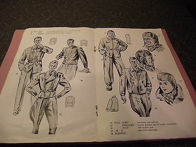 DUTCH LEATHER MOTORCYCLE CLOTHING VERHA 1950s CATALOGUE & 2 PRICE LISTS LEWIS
