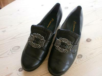 "ADULT EU 40  ""perfect"" FOLKLORE NORWEGIAN BUNAD SHOES   NORWAY"