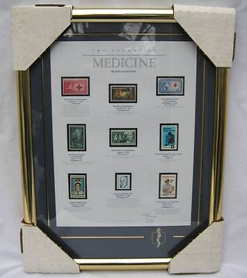 9 Framed The Stamps Of Medicine Second Collection Ltd Ed Medical 1988 Texas
