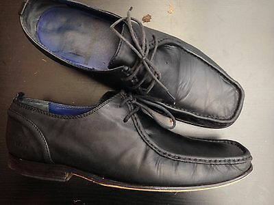 Ted Baker London Uk 10 Eu44 Black Leather  Lace Up Shoes Formal Or Casual