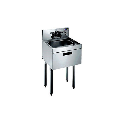 "Krowne Metal KR21-12DST Royal 2100 Series 12""W Freestanding Underbar Hand Sink"