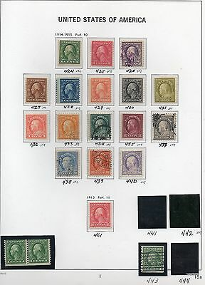 Old Classic Stamp Collection on Album Page (1912 - 15 Issues) 20 Stamps