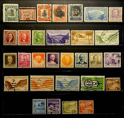 Canal Zone: Classic Era To 1950's Stamp Collection