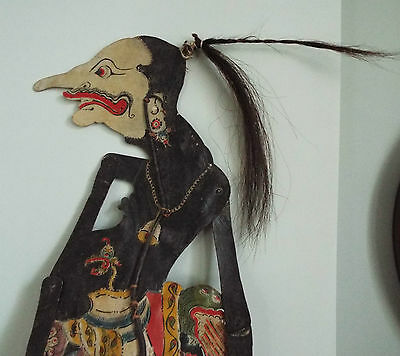 """Antique/Vintage? Leather Shadow Puppet """"Petruk"""" From The Javanese Wayang Figures"""