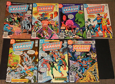 Justice League America/JLA Lot 176 177 178 179 180 181 182 VF+ to NM+ DC 1980