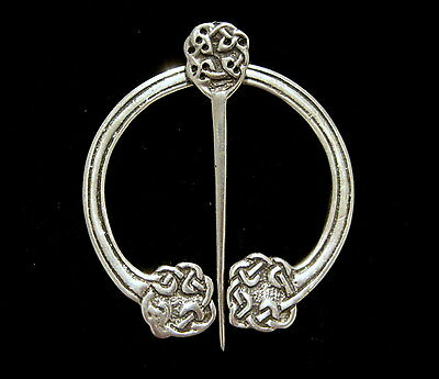 HAMISH DAWSON-BOWMAN Celtic Art Industries IONA Sterling PENANNULAR BROOCH PIN