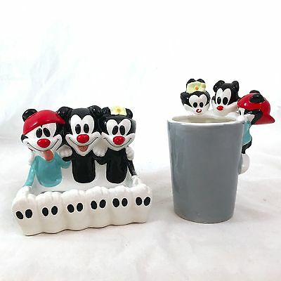 Animaniacs Soap Dish Toothbrush Holder Cup Warner Brothers Bathroom Set Decor
