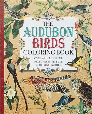2016 The AUDUBON BIRDS COLORING BOOK! 46+ pages/Paper 40 Picts+Guides BRAND NEW*