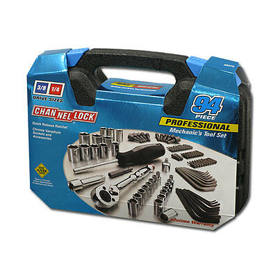 Channellock 39070 Professional Mechanic Socket Tool Set with Case, 94-Pieces