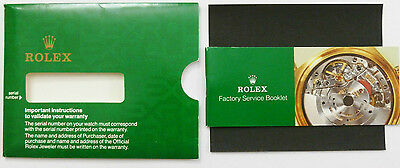 Rolex Factory Service Booklet With Original Protective Cover
