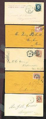 Usa Various Town Cancels Fancy Cancels (Sp26,1