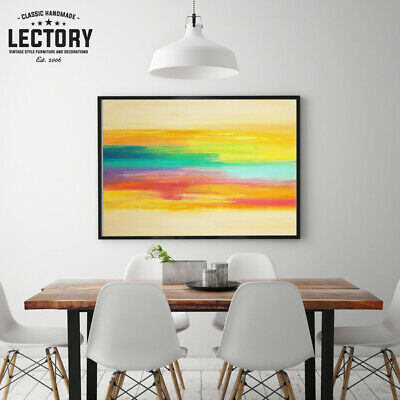 Hand-Painted Oil Painting - Sunset | Modern Abstract Decor Unframed Wall Art