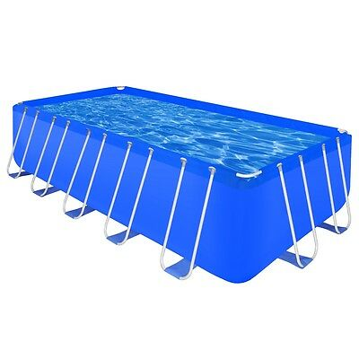 New 540x270x122cm Above Ground Rectangular Swimming Pool Steel Frame Outdoor Spa