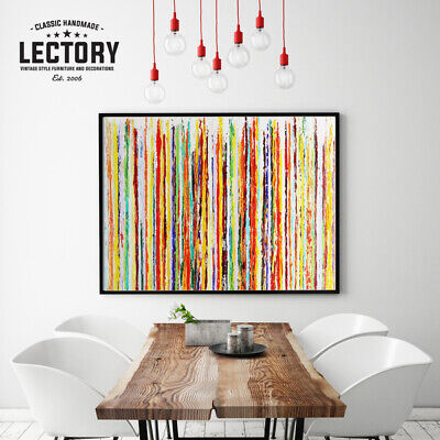 Hand-Painted Oil Painting - Strips | Modern Abstract Decor Unframed Wall Art