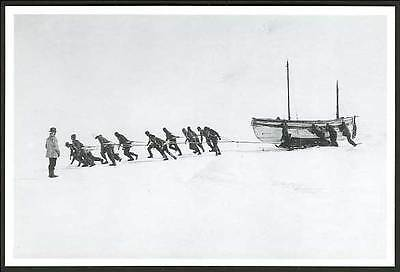 Imperial Trans ANTARCTIC Expedition 1914 Postcard RELAYING JAMES CAIRD, Lifeboat