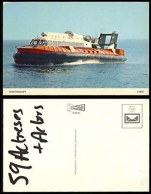 Hovercraft Air-Cushion Vehicle ACV Craft Travel Over Land Water Mud Ice Postcard