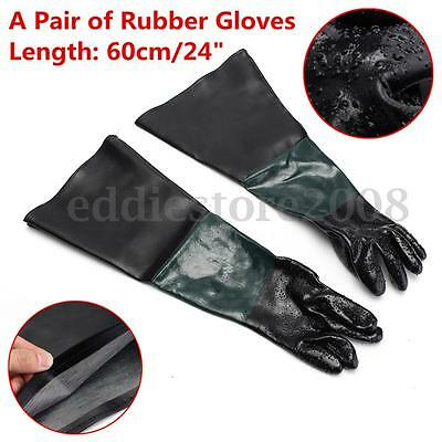 "A Pair Of Replacement Rubber Gloves 24"" For Sandblast Cabinet Hand Protecting"