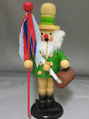 "Elf Gnome Incense Smoker Burner Wooden 8.75"" Ribbon Pole Barrel Silvestri in Box"