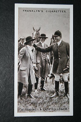 East Essex Foxhounds  Blooding   Vintage 1920's Photo Card # VGC / EXC