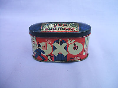 Old OXO Zoo House Tin circa 1930s