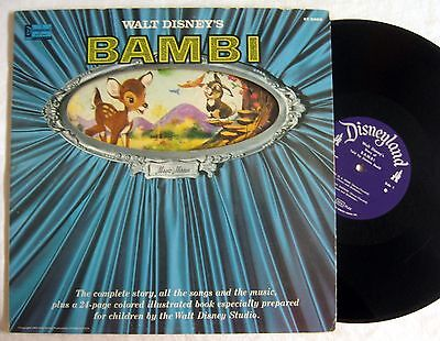 Disney BAMBI ~ 1960 Vinyl Record with Illustrated Book