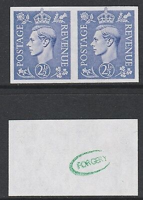 Great Britain (712) 1941 KG6 2.5d IMPERF PAIR -  a Maryland FORGERY unused