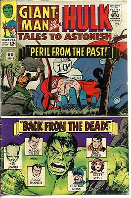 Tales To Astonish 68 Dated June 1965. Very Good Condition. Hulk, Giant-Man