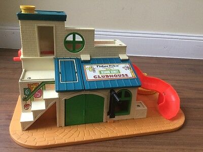 "♥ VINTAGE Fisher Price #937 ""Sesame Street Clubhouse"" aus 1977 !!!!!!! ♥"