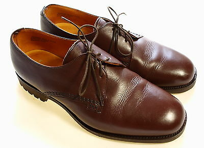 Superb Mens Loake Norwich Country Shooting Hunting Leather Vtg Style Shoes 11 Ee