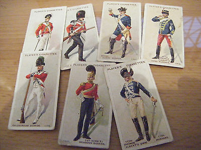 """7 CARDS FROM PLAYERS """"REGIMENTAL UNIFORMS""""  2nd, 1914"""